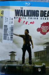 The walking dead complete third season blue ray dvd in Vista, California