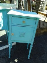 Shabby chic vintage turquoise table /  nite stand in Wheaton, Illinois