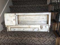 Shabby chic wall display case in Fort Leavenworth, Kansas