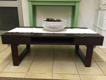 Dark Brown Coffee Table - Modern Design with 2 Swivel Shelves in Ramstein, Germany