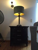 Dark Brown/Black Wooden Nightstand/ Storage Table in Ramstein, Germany