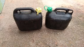 Fuel cans for lawnmower in Ramstein, Germany