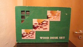 Desk Set - New - Wood (PRICE REDUCED) in Ramstein, Germany
