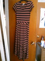 Black and Orange Maxi Dress with front slit in Alamogordo, New Mexico