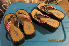Womens Fourth Of July Patriotic Flip Flops - Size 8 1/2 in Kingwood, Texas