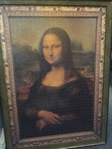 Mona Lisa Puzzle (1000 pieces) in frame in Ramstein, Germany