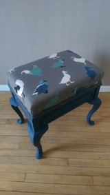 Painted Piano Stool On Queen Anne legs in Lakenheath, UK