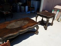 Large coffee and end tables in Yucca Valley, California