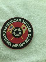 "LG. AMERICAN SOCCER CLUB PATCH ( OKINAWA, JAPAN 4 and 1/4"") in Okinawa, Japan"
