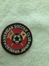 "SMALL AMERICAN SOCCER CLUB PATCH (OKINAWA,JAPAN 3"") in Okinawa, Japan"