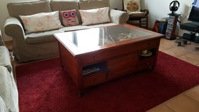 LAST DAY! coffee/ coach table in pine wood with a display drawer in Ramstein, Germany