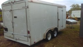 Enclosed 14 ft trailer with inside shelves in good condition. No title. in Kingwood, Texas