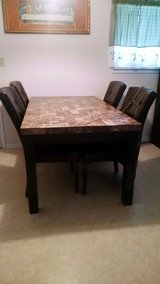 Marble top dining table w/ 5 chairs in Lawton, Oklahoma