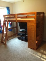 Discovery World Furniture Bunk Bed, Twin Loft Bed, Honey in Fort Rucker, Alabama