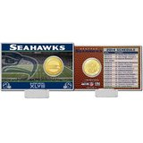 *** Seattle Seahawks HM XLVIII 2013 Schedule Silver Coin Card *** in Tacoma, Washington