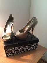 Glittery Gold High Heels in Los Angeles, California