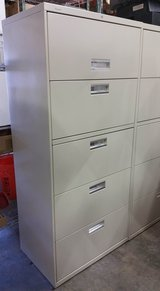 5 Drawer Lateral File Cabinet with key in Los Angeles, California