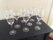 9 Crystal Glass Cordial Glasses in Beaufort, South Carolina