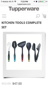 Tupperware Kitchen Tools Complete Set New. in Chicago, Illinois