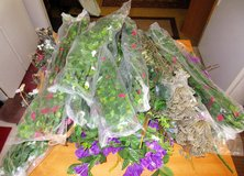 Silk Plastic plants Vines Cat tails etc...Bunches of them 13 new in package and more in 29 Palms, California