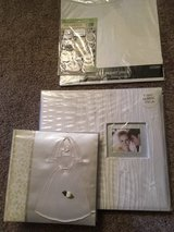 Wedding Fabric Scrapbook and wedding photo album,plus glitter paper pack and stickers in Glendale Heights, Illinois