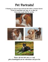 Portrait of Your Pet - painting on canvas in Glendale Heights, Illinois
