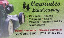 Cervantes landscaping in Fairfield, California