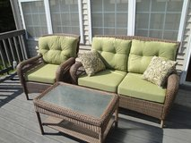 Charlottetown Brown All-Weather Wicker Patio Set with Cushions in Virginia Beach, Virginia
