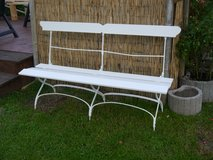 garden bench , new white painted perfect condition ! in Ramstein, Germany