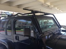 jeep cargo rack, cross bars and wind deflector in San Clemente, California