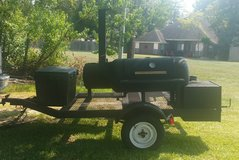 Barbecue pit trailer in Conroe, Texas