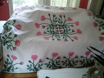 Vintage pink and green roses quilt in Plainfield, Illinois