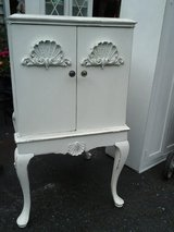 Vintage Shabby chic shell motif cabinet pink! in Naperville, Illinois