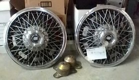 """Buick wire spoke 14"""" wheel covers (hubcap) with mounting brackets in Fort Lewis, Washington"""