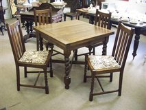 Antique barley twist table and chairs in Lakenheath, UK