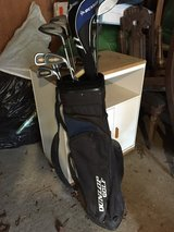 Golf clubs and a bag in Houston, Texas