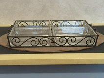 Decorative Sectioned Serving Tray w/Handles in Sandwich, Illinois