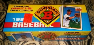 1990 Bowman Baseball Official Complete Factory Set - 528 Cards Total w/ 120 True Rookies! in Fort Riley, Kansas