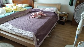 Double size bed in Camp Humphreys, South Korea