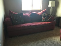 Burgundy queen sofa bed in Lawton, Oklahoma
