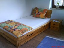 Bed and night stand in Baumholder, GE