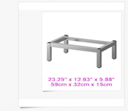 Brand New IKEA Stainless Steel LILLANGEN LEG FRAME 23.25'' x 12.63'' x 5.88'' 902.051.96 in Plainfield, Illinois