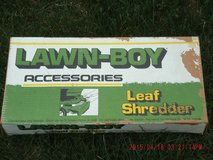 Vintage 21 lawn boy lawnmower leaf shredder attachment in Glendale Heights, Illinois