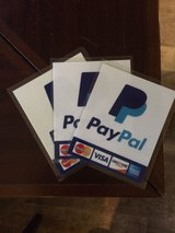 PayPal Here sticker laminated, magnetized, stickey back in Naperville, Illinois