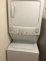 GE stackable washer dryer set in Minot AFB, North Dakota