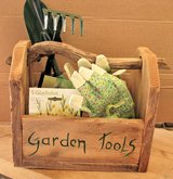 Handmade Garden Tool Box with Garden Tools, Seeds, and Gloves in 29 Palms, California