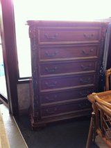 Solid Wood Real Marble Tall Chest Of Drawer Dresser in Fort Polk, Louisiana