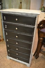 7 drawer! Shabby Rustic Industrial Chest of Drawers Accent Storage in Plainfield, Illinois