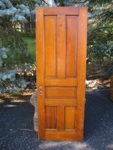 Antique Door – Interior 5-Panel Solid-Core Pine in Naperville, Illinois