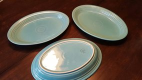 3 Fiestaware Turquoise platters in Lockport, Illinois
